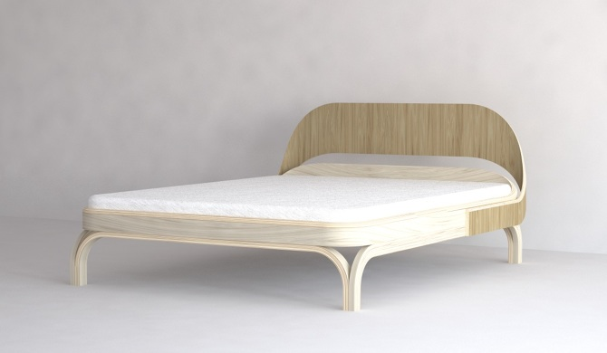 Plywood Bed - Alexandre Xanthakis